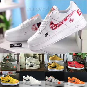 off New Arrival Forces Mens Womens 1 Skateboarding Shoes one White Black Fashion Casual Running Sports Sneakers KK9-G