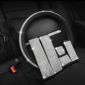 Bling bling strass cristal volant de voiture PU cuir couverture couvre volant Auto Accessoires Case Car Styling