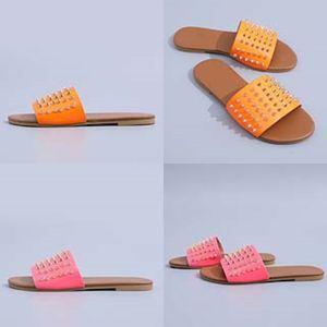 Dener Leater signore Sandali estate piatto Slipper Fasion Beac donna del fumetto Big EAD Slipper Arcobaleno Lettere pantofole 05 # 331