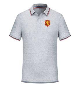 Болгария Футбольная команда Комфортная футболка полиэстер Повседневный сухой Slim Fit Knit Golf Polo Рекламный футбол Поло для мужской