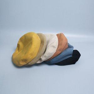 Beret Female Autumn Brim Octagonal Hat Street Cool Fashion Student Pumpkin Hat Painter Hat Female Elegant