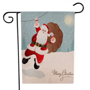 Home Garden banner flag Christmas theme banner flag high quality banner flag Winter Christmas Holiday decoration