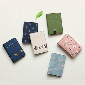 Korean cute hipster animals and plants Firebird travel clip short passport cover id bag passport bag
