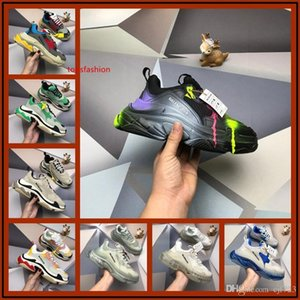 A1 Luxury triple S old dad shoes tripler sneakers green clear sole chaussures retro scarpe women zapatos men hommes hombre zapatillas mens