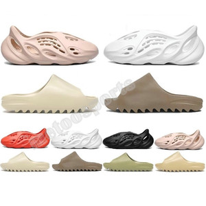2020 Kanye West Трусы Мужчины Женщины Slide Bone Earth Brown Desert Sand Slide Resin Desinger мужские размер сандалии Runner 36-45