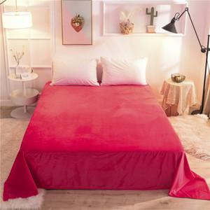 Rose Red Blanket 180x230cm, 240x250cm, 240x270cm, Bedding Thickening Plus Velvet Solid Color Flannel Bed Sheet Blanket XF766-6