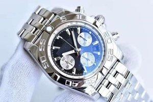 Breitling Новые дизайнерские мужские часы Pilot Chronomat B01 Chronograph моды 42мм себя обмотки механическое движение ABO из нержавеющей стали мужчины часы 6aLK #