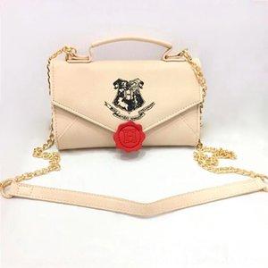 periféricos de filmes Harry Potter ombro saco bolsa de couro cadeia envelope das mulheres inclinada mini-carteira de longo carteira