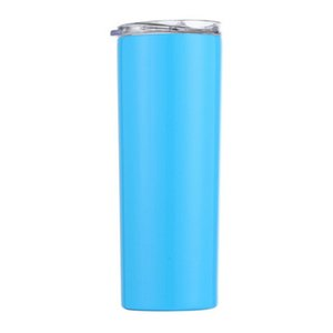 2020 Skinny Tumblers Stainless Steel Drinking Cup With Straw Double Wall Vacuum Insulation Cup Straight Portable Coffee Mug A04 From xhhair
