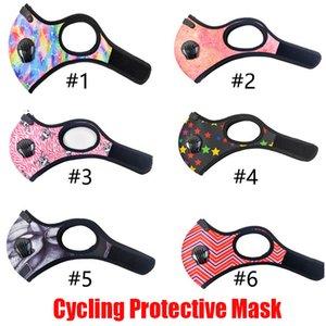 Maschere in bicicletta viso protettiva con panno Meltblown carbone attivo PM2.5 Filtro Anti-Pollution Sport in corso di formazione bici riutilizzabile Maschera