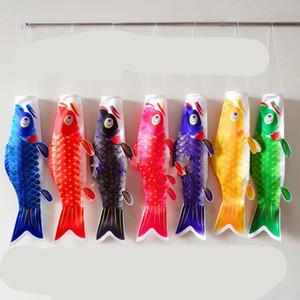 Streamer Koinobori Cyprinus Carpio Nobori Carpa Koi Bandiere Giappone Stili di Muti Colori del tubo lungo Banner Sushi Shop poliestere 40mq C2