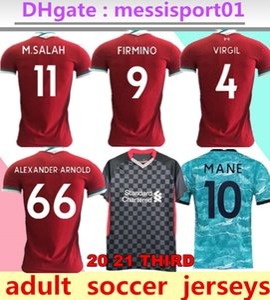 maillots de football Liverpool 2020/2021 chemise de maillot de foot 2020/21 M. SALAH VIRGILE MANE FIRMINO KEITA champions gardien 20/21 hommes de la soccer jersey