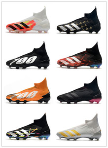 botas de fútbol Predator mutador 20 + FG zapatillas de deporte de los niños grapas de fútbol botas de hombres mujeres jóvenes entrenadores cornamusa arranque la zapatilla de deporte con la caja