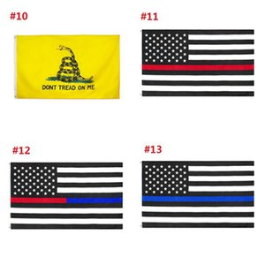 New 90*150 Trump Flag 3*5 Feet Thin Blue Line Red Line US Flag 2020 Presidential Flags Dont Tread on Me Banner Flags IIA252