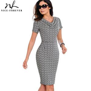 Çalışma Zarif vestidos İş Parti BODYCON Kılıf Ofisi fırfır Bayan Elbise B452 Nice-sonsuza Kadınlar Vintage Giyim