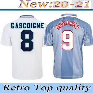 1990 1996 1998 Retro Manchester 2000-2001 Leeds futbol forması Beyaz Futbol Gömlek SHEARER Sheringham BECKHAM OWEN SCHOLES Jersey