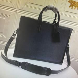 Pelle M44952 angoli rinforzati cartella degli uomini di sicurezza messaggero della cartella portafoglio di business valigetta Tote Moda Shoulder Bag