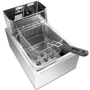 Электрические Фритюрница электрическая сковорода машина Картофель фри Fry производитель нержавеющей стали Бытовая Chicken Фрайер 2500W с таймером