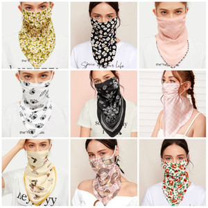 Многоцветных печати Солнцезащитного Ice Шелковой маски Любовь бабочка цветок набивных ткани лента Маска может быть пыл вуалью И Омываются T3I5962