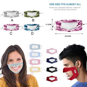 Камуфляж глухонемого Face Mask Clear Рот Window пыл Маска для глухого Lip Reading Mouth Маски Washable с регулируемым ухом Loops FY9152