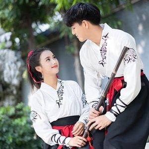 xN1LU Han Kampfkunst-Stil Paar CP Anzug gestickten Han Elemente Abschlussklasse Stickerei Kleidung täglich Verbesserung alte Kleidung