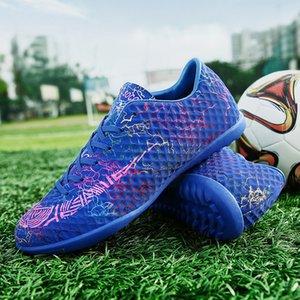 ZHENZU 잔디 축구 부츠 남자 어린이 실내 축구 신발 원래 클리트 스포츠 운동화 사이즈 35 ~ 44 chaussure 드 발
