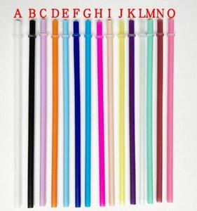 Tek kullanımlık Payet 260 * 6mm 9 Renkler Yaratıcı DIY Plastik Parti İçme Payet Tall için 10.5 inç Kullanımlık Payet Sıska Tumblers
