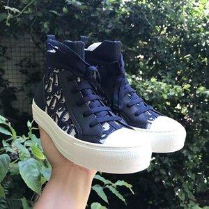 Dior casual shoes  HIGH-TOP IN xshfbcl por Jones xshfbcl Com Fashion Design clássico Oblque Printing Logos Homens Mulheres tênis de basquete