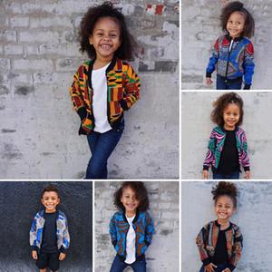INS Bohemia мальчики девочки куртка мода новых детей печататься молнии с длинным рукавом верхней одежды детей вскользь пальто A3524