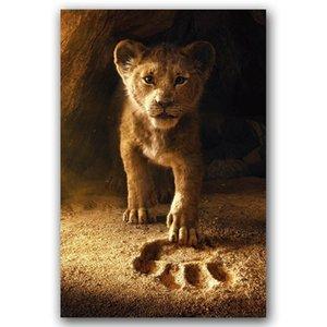 Der König der Löwen Film-Plakat Nordic-Wand-Kunst Ölgemälde auf Leinwand Dekorative Graphik Tierbild Tapete für Wohnzimmer Wohnkultur