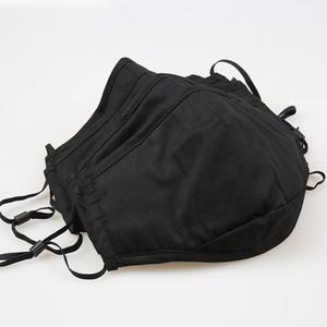 Hot Adult traspirante maschera nera a 4 strati di filtro lavabile pluggable e foschia prova maschera PM2.5 viso maschere antipolvere maschera Designer T2I51237