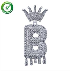 Iced Out Pendant Hip Hop Jewelry Mens Luxury Designer Necklace Diamond Vintage Crown English Letter Tassel Pendants for Men Women Wedding