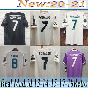 17-18 real madrid soccer jersey 06 07 2015 BALE BENZEMA MODRIC KROOS Retro football shirt Vintage ISCO Maillot SERGIO RAMOS RONALDO Camiseta