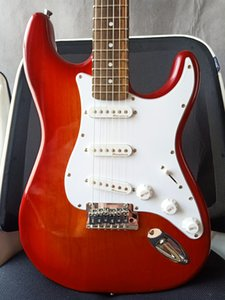 Custom Shop Alder Wood Body ST Cherry Burst Electric Guitar Red Brwon Sunburst Colour