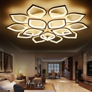 Hot ! Free Shipping Modern White LED Ceiling Light Fixture For Living room Recessed Chandelier Lighting AC90-260V Fast Shipping