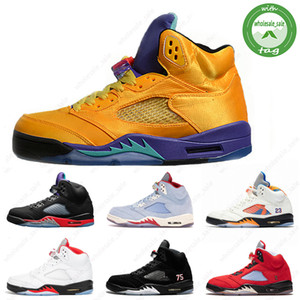 New Jumpman 5 5S Black Muslin Fresh Prince Satin Cred Men Baloncesto Zapatos de baloncesto Grape Fresh Prin Island Green Mens Designer Sneakers US 7-13
