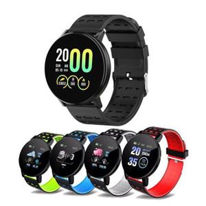 119 Além disso inteligente Pulseira Pressão Smartband com sangue Heart Rate Waterproof Cor Smart Screen pulseira esporte relógio inteligente de Fitness Rastreador