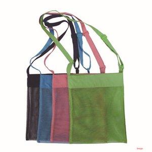 29 * 35cm Kinder Kinder Sand Taschen Strandtasche Mesh Tote Organizer Spielzeug Schätze Taschen für Muschel Aufbewahrungstaschen 4 Farben Großhandel BH3031 DBC
