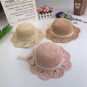 Girls sun Princess Sun Protection 3 boys wide eaves straw 6 months -2-5 years cap cap straw baby hat old children's baby hat 1