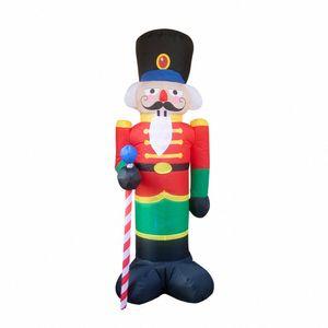 크리스마스 LED 진저 맨 쿠키와 LED 실내 야외 마당 Airblown 장식 재미있는 크리스마스 파티 표시 크리스마스 풍선 2Aad 번호를 점등