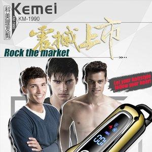 Kemei Km 1990 Rechargeable Tondeuse professionnelle Tondeuse cheveux rasage Machine de découpage Barbe Tondeuse électrique Kemei Km 1990 npKYd