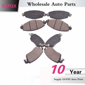CAPQX Front & Rear brake pad Disc Brake Pad Kit TD-5127 TD-5128 For Luxgen SUV 7 b418#
