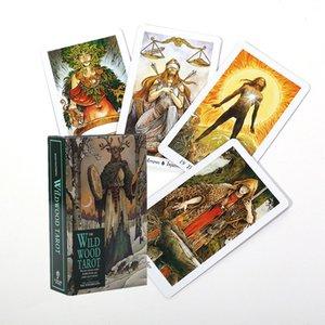 Hot Sell Tarocchi Deck The Wild Wood Tarot Schede di gioco del regalo di compleanno Consiglio Game Party Consiglio Card Game