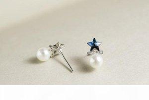 I Silver 925 Jewelry Earring Stud Earrings For Women Earing Oorbellen Star Pearl Earrings Ohrringe Aretes Boucle D &#039 ;Oreille Femme