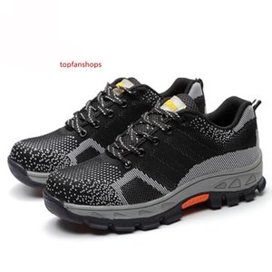 Spring Summer Work Shoes Men Fahion Mesh Breathable Steel Toe Casual Boots Labor Insurance Mens Safety Shoe HH-098