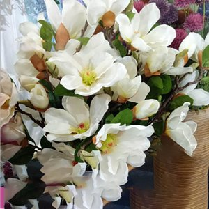 simulation artificial flowers Magnolia bouquet silk flower living room home table decoration bedroom home wedding decorations flower wall