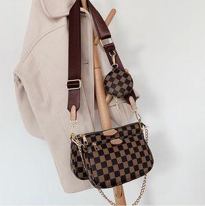 Новая сумка маджонг три-в-одном пакете ноль бумажник одно плечо косо женская сумка из трех частей бумажника MULTI Pochette ACCESSOIRES