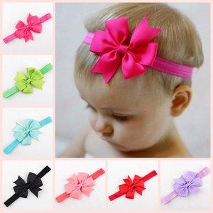 18 colori Newborn dell'arco delle ragazze di Hairband Swallowtail Solido Colore Elastici fascia Headwear Headwrap bambini Accessori puntelli foto M2274