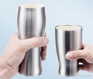 12piece / 많은 2016 간단한 진공 보온 컵의 높이 품질 304 스테인레스 스틸 더위와 추위를 이중 사용 차 컵 맥주 커피 잔 420ml