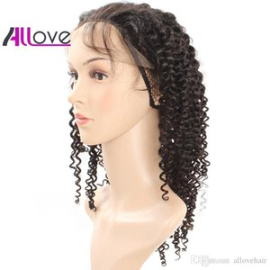 Cheap 8A Brazilian Hair Indian Peruvian Lace Front Wigs Kinky Curly Human Hair Lace Front Wigs 180 Density Good Quality Free Shipping